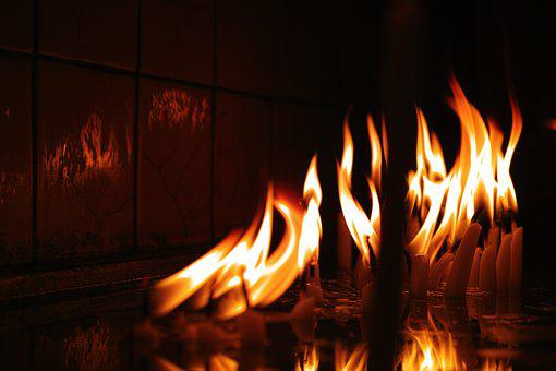 Flame, Ali, Candle, In The Dark, Fireplace, Beautiful