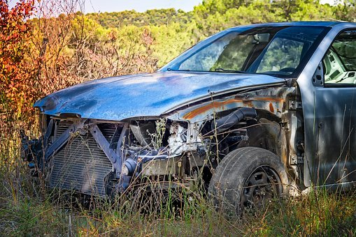Carcass, Wreck, Automobile, Rugged, Car, Accident