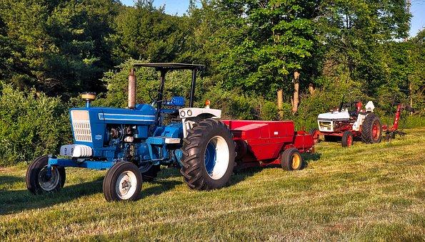 Tractor, Farm, Agriculture, Field, Rural, Farmer
