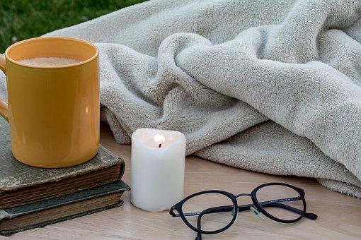 Candle, Flickering Flame, Coffee Cup, Cup, Closed Books