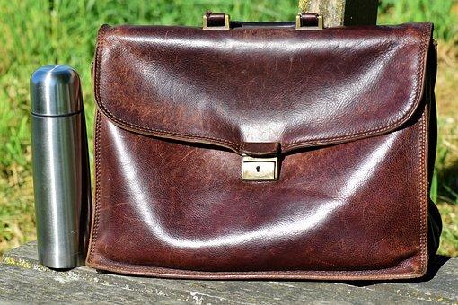 Bag, Leather Case, Break, Work Bag, Briefcase
