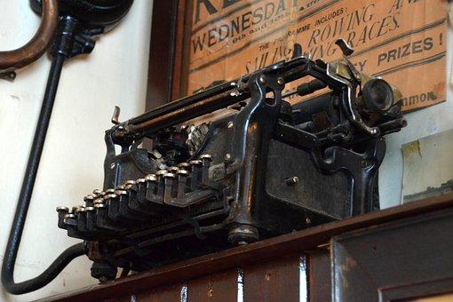 Typewriter, Nostalgia, Old, Antique, Leave, Retro, Tap