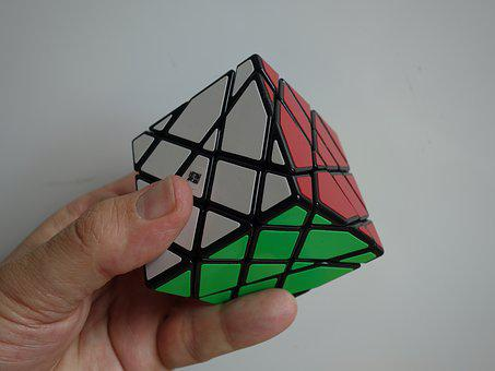 Magic Cube, Maps, Hand, Puzzle, Toys, Denksport