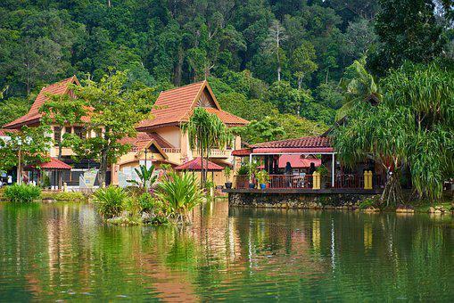 Home, Lake, Water, River, Building, Reflection, Peace