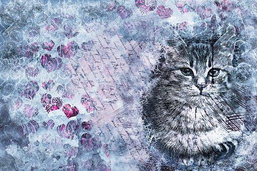 Cat, Animal, Pet, Art, Abstract, Artistic, Watercolor