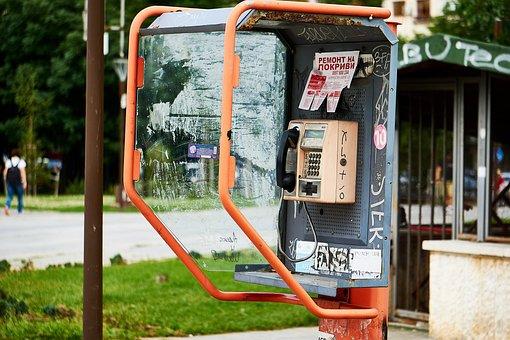 Bulgaria, Sofia, Phone Booth, Old, Telephone