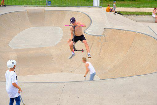 Kickboard, Stunt, Skater, Roller, Roll, Show, Viewers