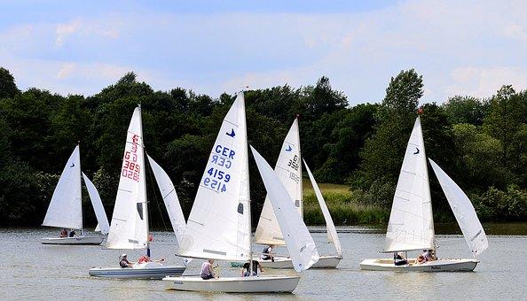 Sailing Boats, Race, Sail, Boats, Water, Lake