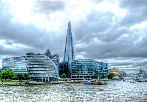 Shard, London, Thames, Attraction, Skyline, England, Uk