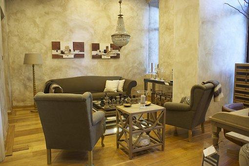 Salon, Armchair, Table, Furniture, Home