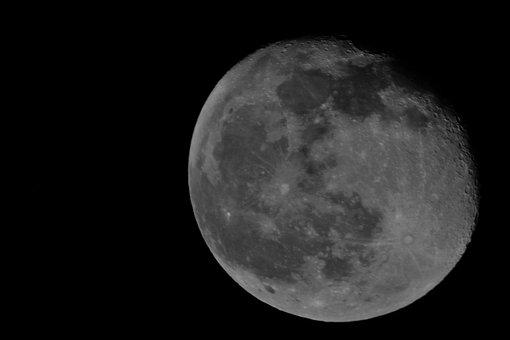 The Moon, Moon, White Moon, Full Moon, Crater Moon