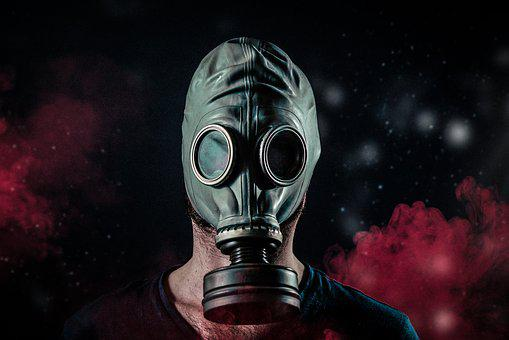 Gas, Mask, Toxic, Chemical, Face, War, Danger