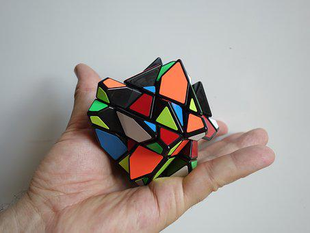 Magic Cube, Mess, Hand, Puzzle, Toys, Denksport