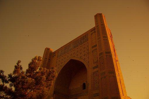 Samarkand, Registan, Uzbekistan, Sunset, Museum