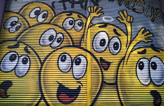 Graffiti, Yellow, Paint, Pictures, Istiklal Street