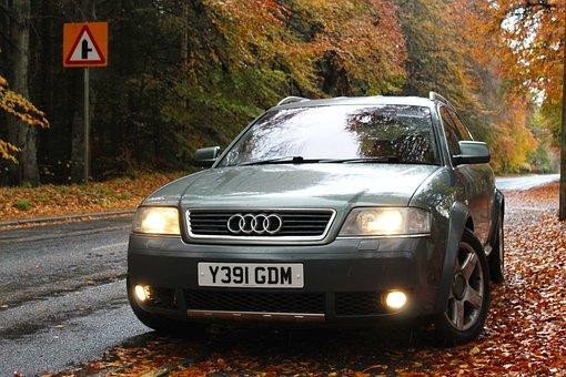 Audi, A6, Avant, Leaves