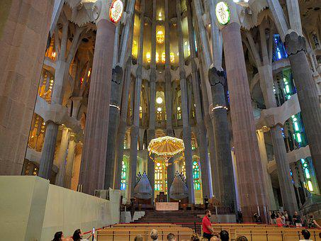 Architecture, Church, Basilica De Sagrada Familia