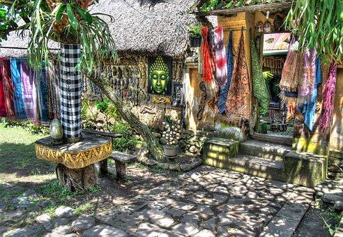 Sarong, Market, Asia, Fabric, Clothing, Textile