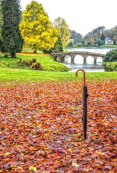 Stourhead, Gardens, Wiltshire, Uk, Autumn, Landscape