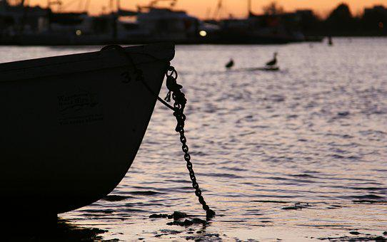 Boats, Sunset, Water, Sky, Sea, Nature, Travel, Summer