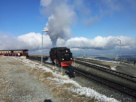 Boulder, Resin, Landscape, Brocken Railway