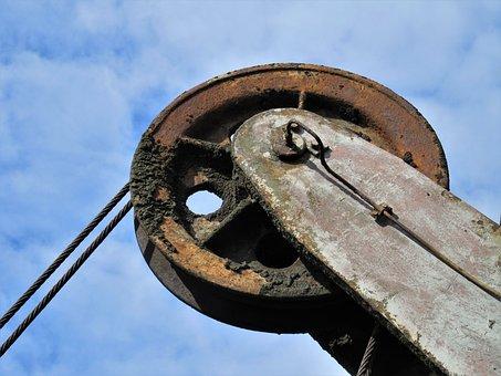 Conveyor Wheel, Conveyor System, Rope, Steel, Scaffold