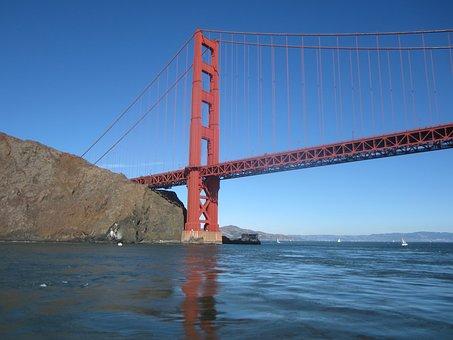 Golden Gate Bridge, Bridge, California, Bay, Water