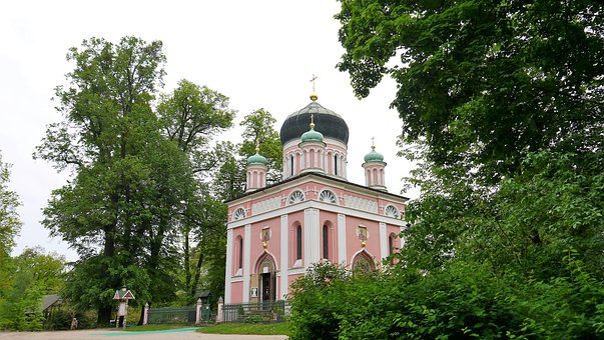 Church, Potsdam, Russian, House Of Worship