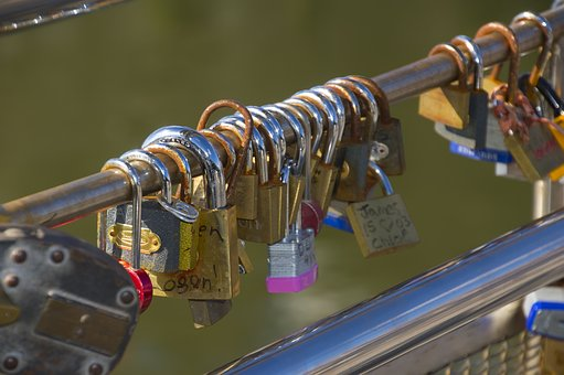 Locks, Love, Love Locks, Symbol, Romance, Romantic, Key