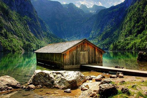 Königssee, Upper Lake, Berchtesgaden National Park