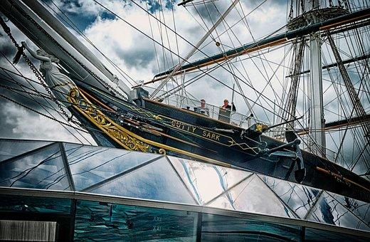 Cutty Sark, Ship, Dock, Landmark, Greenwich, London