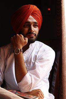 Sardar, Sardarji, Turban, Sikh, Man, India, Punjabi