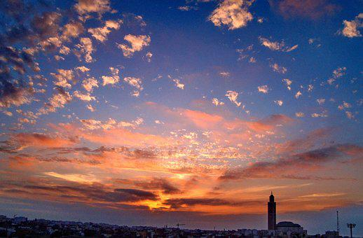 Casablanca, Morocco, Africa, Mosque, The Minaret