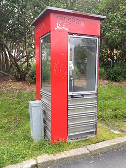 Phone Booth, Phone, Box, Communication, Old, Red