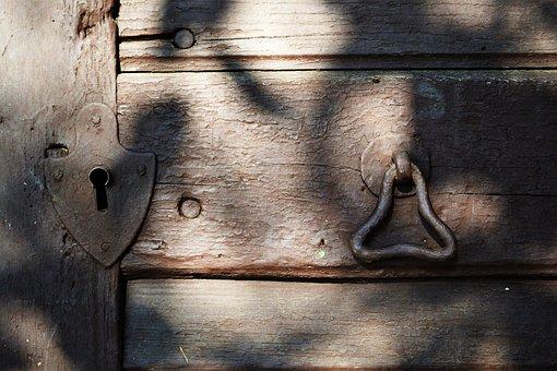 Old, Lock, Door, Iron, Cellar, Old Door, Entrance