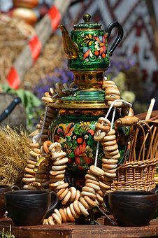 Samovar, Tableful, Food, Russian Culture, Traditions