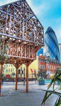 London, Gerkin, Building, City, Tower, Skyscraper
