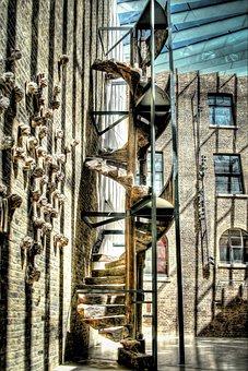 Spiral, Ladder, Architecture, Design, Stairway, Step
