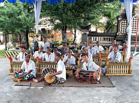 Bali, Street Band, Music, Players, Sound, Culture