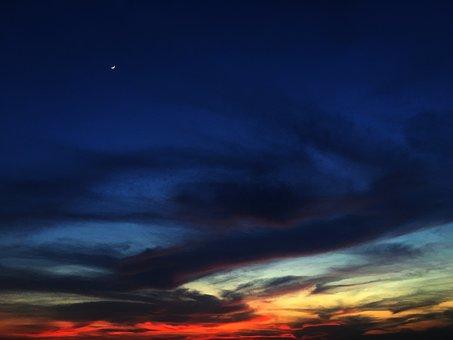 Sunset, Nishishita, Tired Bird Returning Home