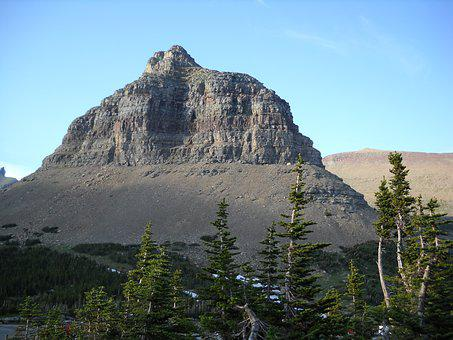 Mountain, Butte, Peak, Nature, Sky, Travel, Rock, Stone