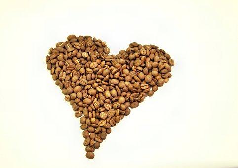 Coffee, Heart, Coffee Beans