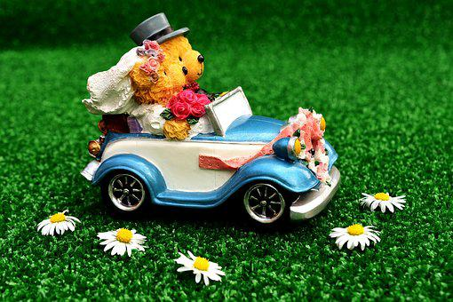 Bride And Groom, Wedding, Auto, Marry, Decoration, Love