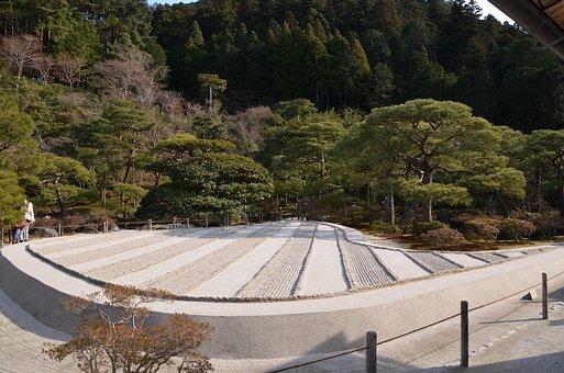 Ginkaku-ji, Raked Sand, Garden, Japan, Japanese, Raked