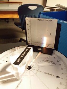Prism, Science Experiment, Study, Test, Desk, Light