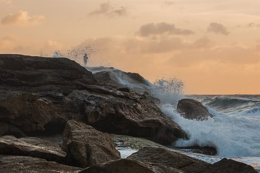 Seascape, Sydney, Australia, Sunrise, Rocks, Reflection