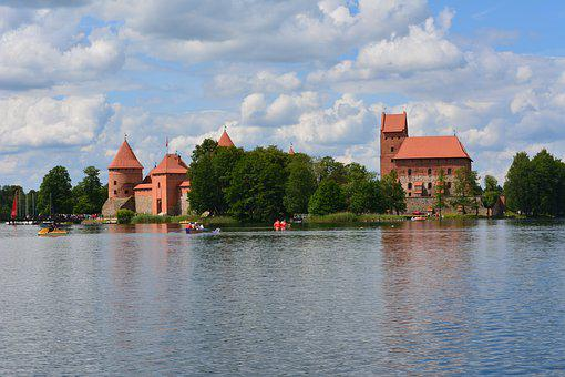 Trakai, Lithuania, Castle, Medieval, Historical, Tower