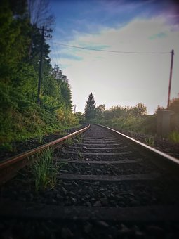 Gleise, Summer, Seemed, Train, Nature, Transport, Sun