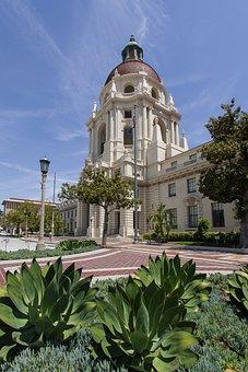 Pasadena, California, City, Hall, Los, Angeles, Usa