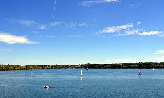 Lake, Badesee, Water, Waters, Sailing Ships, Sail